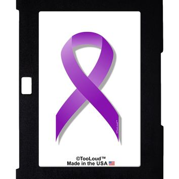 Epilepsy Awareness Ribbon - Purple Galaxy Note 10.1 Case  by TooLoud