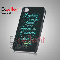 Harry Potter Happiness Quote - iPhone 4/4s/5 Case - Samsung Galaxy S2/S3/S4 Case - Black or White