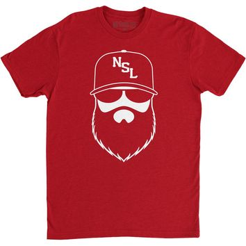 NSL Beard League Men's T-Shirt Red/White