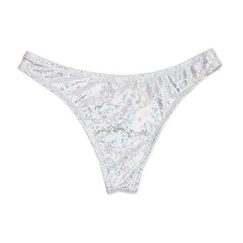 Cheeky Bottom - Silver Glitz
