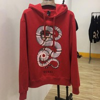 GUCCI Women Man Fashion Print Long Sleeve Top Sweater Pullover Hoodie-1