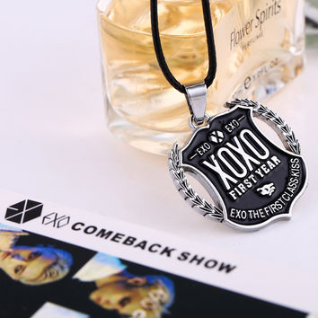 Shiny Jewelry Gift New Arrival Korean Stylish Strong Character Pendant Men Necklace
