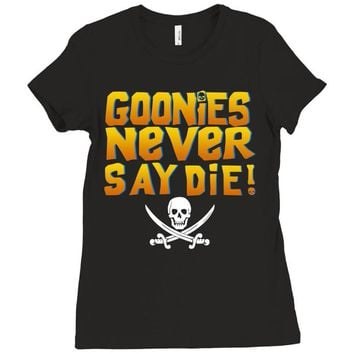 The Goonies Never Say Die Ladies Fitted T-Shirt