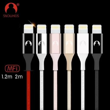 Snowkids USB Phone Charger Cable Lightning to USB Cable for iPhone X 8 7 6 5 MFi Cable Extra Long Upto iOS 12
