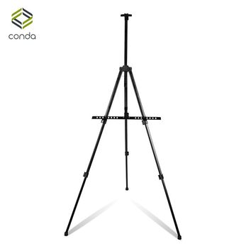 CONDA Sketch Easel for Artist Painting Aluminum Alloy Display Easel Adjustable Metal Portable Folding Easel Drawing Outdoor