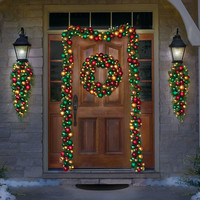 The Ornament Ball Cordless Prelit Garland