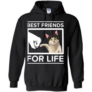 Funny Cat - Best Friends For Life Cute  Cats Gifts Pullover Hoodie 8 oz