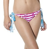 Xhilaration® Junior's Side Tie Swim Bottom -Pink