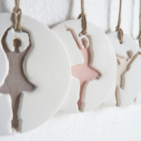 Ballet dancer ornaments-Set of 4, for Nursery or Christmas decoration.