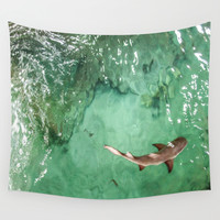 Look at the Shark Wall Tapestry by Gwendalyn Abrams