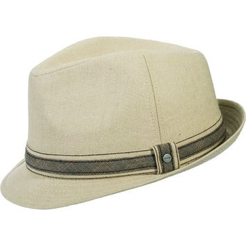 Stetson Linen Blend Fedora Hat (M, Natural)