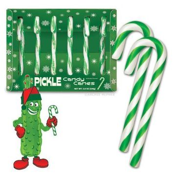 Fancy Pickle flavored Candy Canes, 3.8 OZ