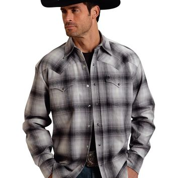 Stetson Orignal Rugged Two Pocket Coal Plaid Shirt