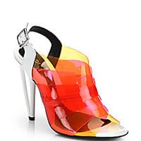 Fendi - Multicolored PVC Slingback Sandals - Saks Fifth Avenue Mobile