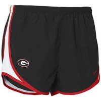 Nike Georgia Bulldogs Ladies Black NikeFIT Tempo Performance Training Shorts