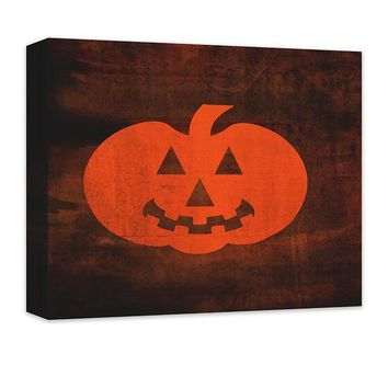 Jack-O-Lantern Canvas Wall Art