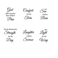 Set of Religious Inspiring God Sayings Decal Stickers