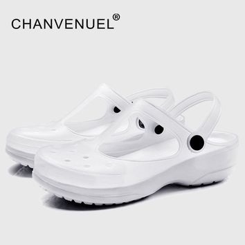 White Shoes For Nurse Summer Women's Garden Clogs Work Nursing Shoes Woman Mules Clogs