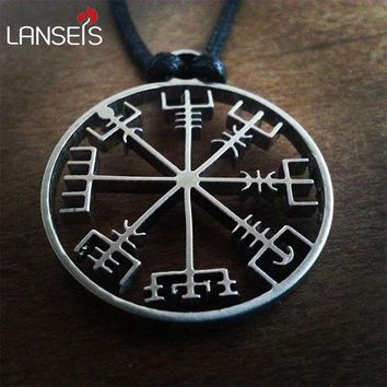 *1pcs viking odin's symbol of norse runic pendant necklace Viking Runes Vegvisir Compass Pendant