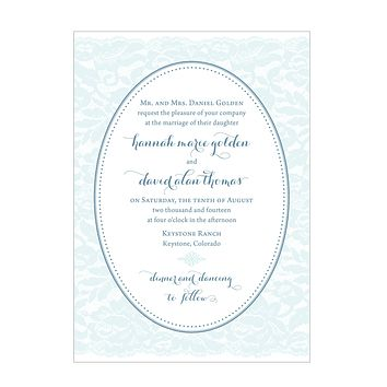 Whimsical Lace Wedding Invitation Collection