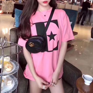 """Gucci"" Women Casual Fashion E Letter Print Short Sleeve T-shirt Top Tee"