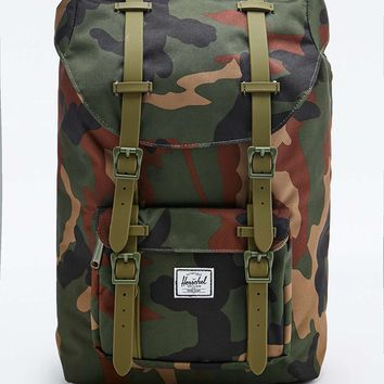 Herschel Supply co. Little America Backpack in Green Camo - Urban Outfitters