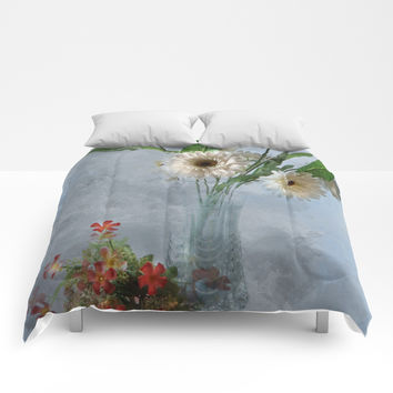 Wildflower Still LIFE Comforters by Theresa Campbell D'August Art