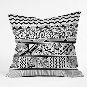 Kris Tate Tribal 3 Throw Pillow