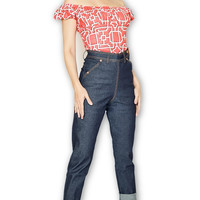 Skinny Dungaree High waist Blue Jeans
