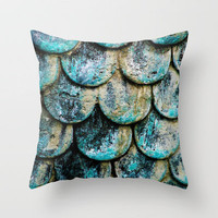 Scales Throw Pillow by RichCaspian | Society6
