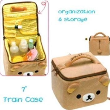 "San-X Rilakkuma 7"" Train Case: Relax Bear"