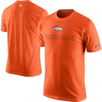 Nike Denver Broncos Training Day T-Shirt - Orange