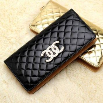 DCCKR8D Fashion ladies handbag high-end candy color wallet Lingge women's wallet CC bright handbag