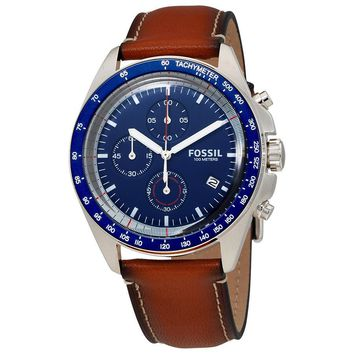 Fossil Sport Blue Dial Chronograph Mens Watch CH3039