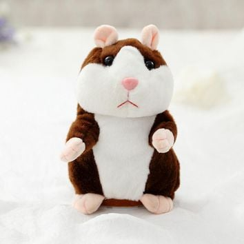 Dropshipping Lovely Talking Hamster Plush Toy Cute Speak Talking Sound Record Hamster Stuffed Animal Toys Christmas Gifts