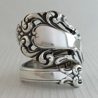 Size 8 Vintage Sterling Silver Spoon Ring