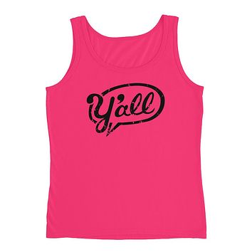 """Y'all"" Ladies' Tank"