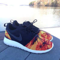 "Custom Nike Roshe Run ""Sunset Beach"""