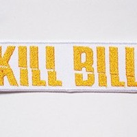 "Kill bill Quentin Tarantino sew iron on Patch Badge Embroidery 3x10 cm 1.25""x4"" O-13"