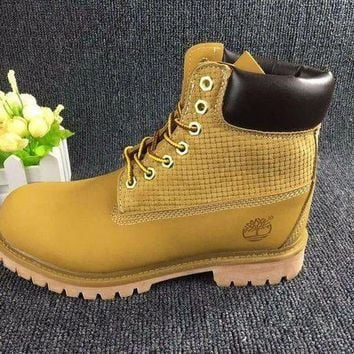 ESB8KY Timberland Rhubarb Boots Wheat color 2018 Waterproof Martin Boots