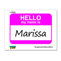 Marissa Hello My Name Is Sticker