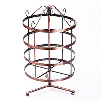 Songmics 4 Tiers Rotating Spin Table 192 Earring Organizer, Jewelry Display Stand UJDS012