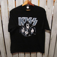 KISS Retro T-Shirt, TEEN Size Large, Metal/Rock Wear