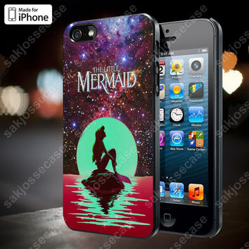 In The Moon Light Nebula Space Ariel The Little Mermaid Case for iPhone 5/5S, 4/4S, and Samsung Galaxy S3/S4