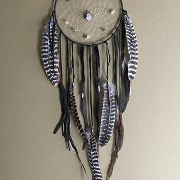 Spring SALE Dusk  Dream Catcher. Large OAK dream catcher,  bohemian dreamcatcher, altar, wall hanging, home decor, feather wall hanging