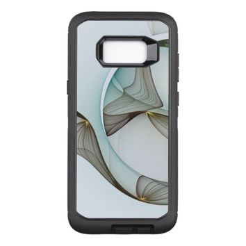 Abstract Modern Turquoise Brown Gold Elegance OtterBox Defender Samsung Galaxy S8+ Case