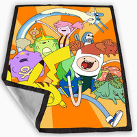 Pokemon Adventure Time Blanket for Kids Blanket, Fleece Blanket Cute and Awesome Blanket for your bedding, Blanket fleece **