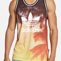 Men's adidas Originals Palm Print Mesh Tank,