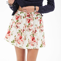 Watercolor Rose Skater Skirt