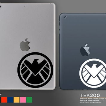 iPad & tablet Marvel Agents of SHIELD Eagle logo sticker. Custom die cut vinyl decal 052